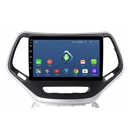 ADMLZQQ Android Car Stereo Double DIN para Jjeep Cherokee 2015-2018 Unidad Principal De 9 Pulgadas Pantalla TáCtil HD Reproductor Multimedia Mp5 Video con GPS NavegacióN/FM/WiFi/SWC,4GWifi 2+32