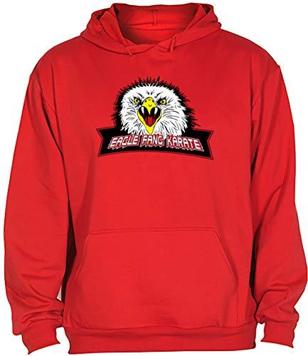 Camisetas EGB Sudadera Adulto/Niño Colmillo De Águila Eagle Fang Karate Kid ochenteras 80´s Retro (Rojo, XXL)