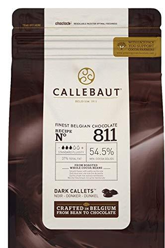 CALLEBAUT Receipe No. 811 - Kuvertüre Callets, Zartbitterschokolade, 54,5% Kakao, 1 x 2500 G