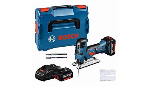 Bosch Professional 18V System Akku-Stichsäge 18V-LI S (GAL 1880 CV, 1 x Stichsägeblatt T 308 BP, 1 x Sägeblatt T 144 DP, 1 x Sägeblatt T 244 D, in L-BOXX)