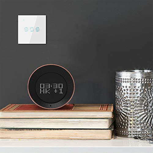 Emoshayoga Interruptor de sincronización Inteligente Interruptor Inteligente de atenuación WiFi Interruptor LED Inteligente Lámparas de tungsteno de YODO para lámparas incandescentes(White, Transl)