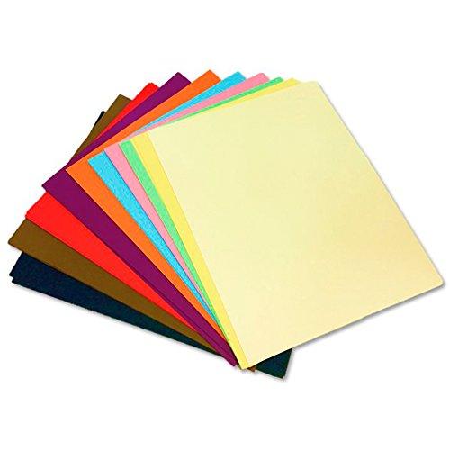 Cartulina de colores - medidas 50x65 cm - 125 unidades - 10 Colores surtidos