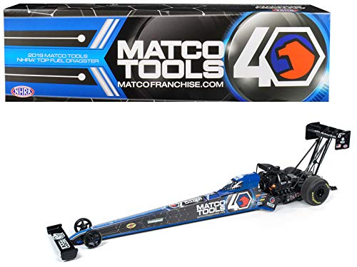 StarSun Depot New 2019 Funny Car NHRA Antron Brown TFD (Top Fuel Dragster) Matco Tools 40th Anniversary 1/24 Diecast Model Car by Autoworld