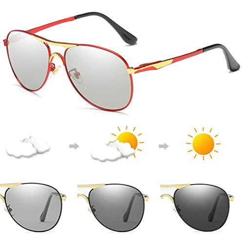 Mens Meekleurende Gepolariseerde Zonnebril Zonnebril, UV 400 Bescherming Met Metalen Frame, Buitensport, Rijden Aviator Retro Padbril