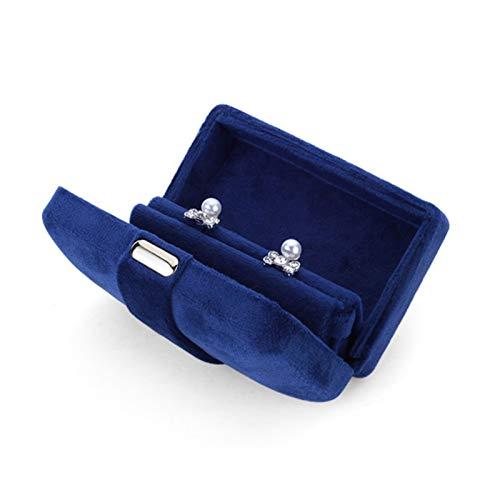 Joyero Organizador de Joyas Exquisito Pequeño terciopelo de terciopelo Caja de almacenamiento de caja de almacenamiento Pendientes de anillo Contador de joyería Pantalla Buzón de regalo Caja de Joyas