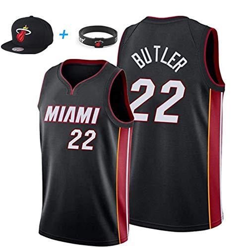 YUUY Jimmy Butler #22 Miami Heat Camisetas de Baloncesto, Camisetas Bordadas a Mano, Multicolor Opcional, Unisex (Color : C, Size : Children-10/12)