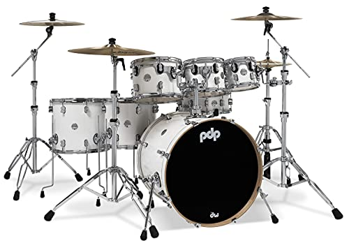 PDP By DW 7-Piece Concept Maple Shell Pack with Chrome Hardware Pearlescent White