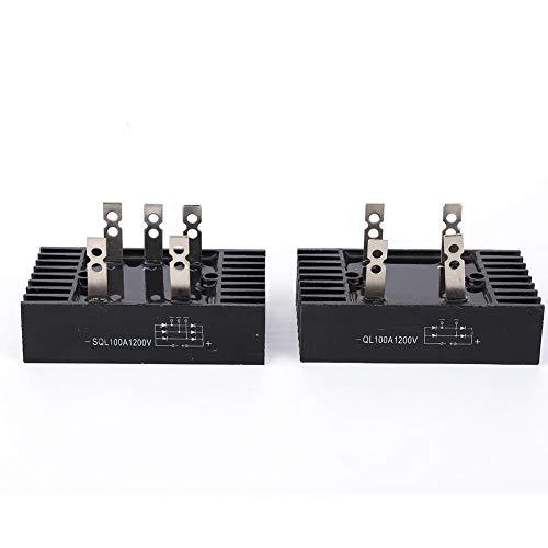 Rectificador de Puente Trifásico 100A 1200V Módulo de Rectificador de Puente de Diodo Alternador de Alta Potencia con Paquete de Resina para Electrodomésticos
