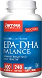 Jarrow Formulas EPA-DHA Balance Odorless Caps, Boosts Brain Function, 240 Softgels