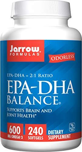 Jarrow Formulas | EPA-DHA-Balance | 600 mg Omega-3 | 240 Weichkapseln | hochdosiert | Glutenfrei | Sojafrei | geruchlos