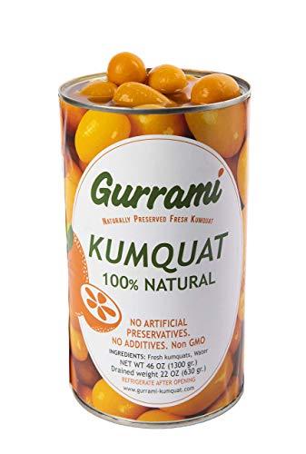 Gurrami Kumquat Freschi in Conserva 1.3KG - Mandarini Cinesi Gourmet Conservati Naturalmente - Gusto Autentico ed Esotico per Cocktail e Pietanze- Facili Da Usare (1 confezione)