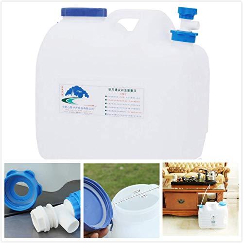 XHP Dispensador de agua, recipiente de agua con grifo tanque de agua, cubo de bebidas portátil para acampar, senderismo, escalada, excursión autoconducción (tamaño: 18 L)