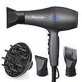 Basuwell Hair Dryer Professional 2100W Salon Hairdryer Ionic Far Infrared 2 Speed 3