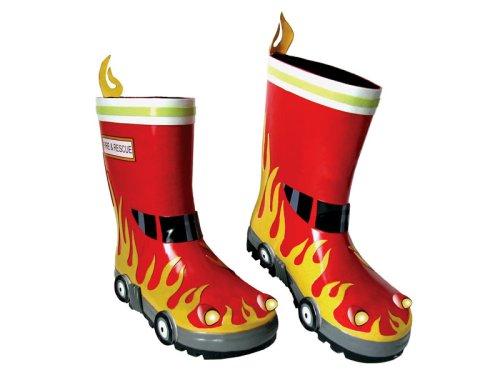 Kidorable Garden & Rain Boots Fireman (9 Toddler)