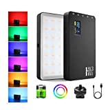 Weeylite RGB Video LED Light, CRI95+ RGB 360° Full Color 20 Light Effects, Built-in Rechargeable Battery, Aluminum Body, OLED Screen, 2500K-8500K Fill Light Panel for YouTube DSLR Studio Outdoor Video