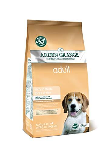 Arden Grange Alimento seco para Perros Adultos Rico en Cerdo y arroz, 12 kg