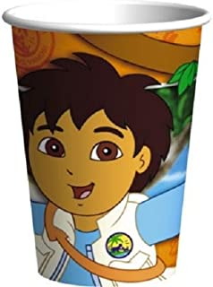 8 GO DIEGO GO Biggest Rescue CONE HATS ~ Birthday Party Supplies Favors Paper