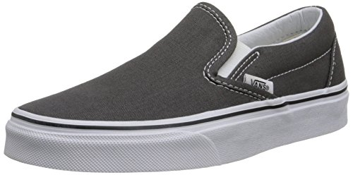 Vans Slip-On¿ Core Classics, Charcoal (Canvas), 6.5 Women / 5 Men M US