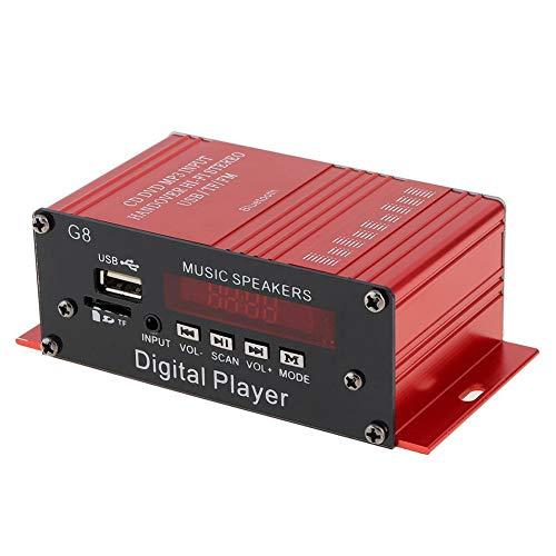 Yozhanhua - Mini Amplificador de Audio estéreo de Alta fidelidad para Auto, 12 V, Amplificador eléctrico portátil para Altavoces para Auto, Motocicleta, Tableta, PC, TV, Ordenadores portátiles