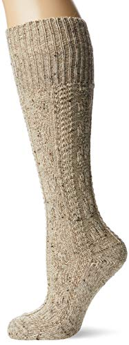 Lusana Jungen Kinder-Knieb&strumpf Loden Tweed Kniestrümpfe, Beige (Mittelbeige Meliert 09), 27-30