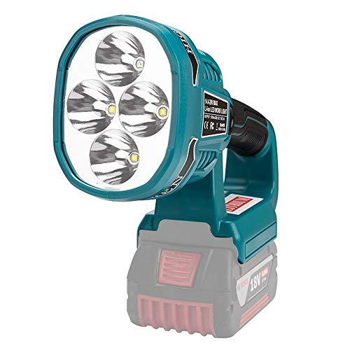 Lámpara BOSCH Compatible con KKmoon, Luz de Trabajo LED Portátil de Litio BS, Lámpara de Tipo Portátil de 12 W, Herramienta Eléctrica de 14,4-18 V (Sin Batería, Sin Cargador)