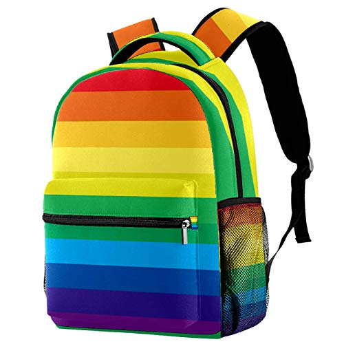Kids Backpack,Backpack for Boys and Girls Preschool Children's School Backpack Striped Multicolored Rainbow