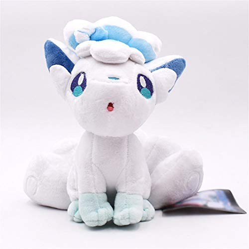 Yuncheng Baby Gift Toy Plush Toy Plush Doll Figurine Toy Pet Pillow Animal, 20cm Doll Alola Vulpix Plush Toy Stuffed Dolls Plush Doll Gifts for Children (Color : White, Size : 12cm)