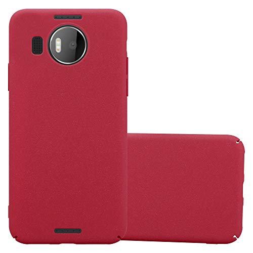 Cadorabo Custodia per Nokia Lumia 950 XL in FROSTY ROSSO - Rigida Cover Protettiva Sottile con Bordo Protezione - Back Hard Case Ultra Slim Bumper Antiurto Guscio Plastica