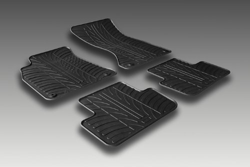 Alfombrillas de Goma Compatible con Ford B-MAX 2012-2015 (Perfil T 4-Partes + Clips de Montaje)