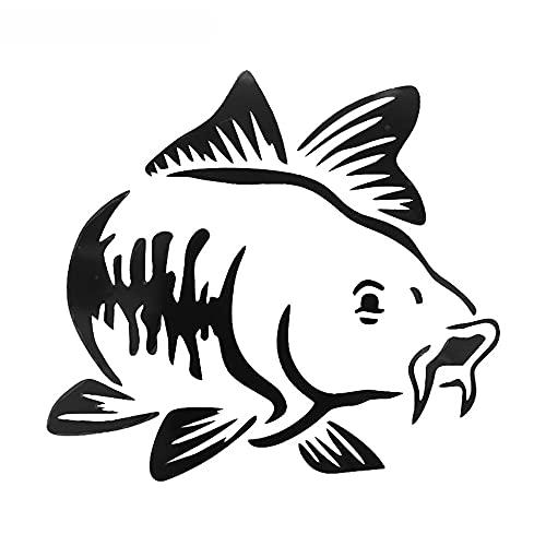 XLYDF Carpa Fishing Coche Vinyl Decal Art Sticker Kayak Pesca Pegatina Pegatina Accesorios para Camiones de automóvil Barco Tribal, 13 cm * 12 cm (Color Name : Black)