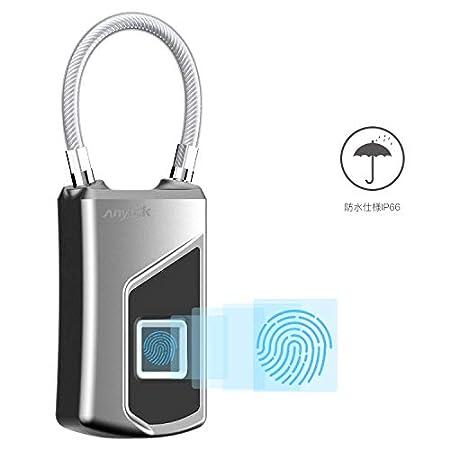 【5/31まで】Anytek 鍵の要らない、USB充電式防水指紋ロック(南京錠) 1,749円送料無料!