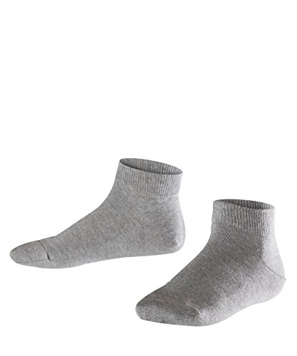 FALKE Kinder Sneakersocken Family - 94% Baumwolle, 1 Paar, Grau (Light Grey 3400), Größe: 35-38