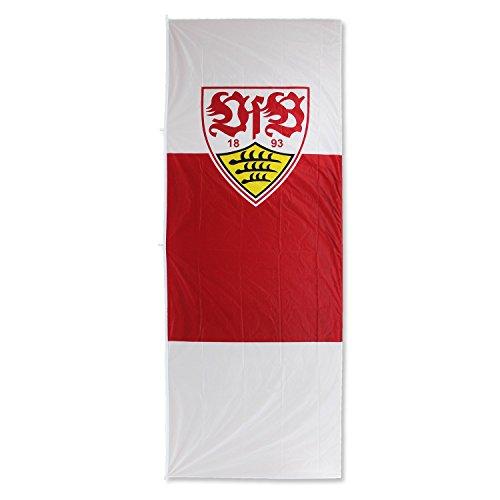 VfB Stuttgart Hissfahne Wappen 400x150 cm Hochformat 100% Polyester MEGA Fahne !!! Blickfang