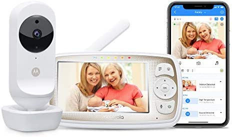 Motorola Connect20 Video Baby Monitor 4 3 Parent Unit and Wi Fi Viewing for Baby Elderly Pet product image