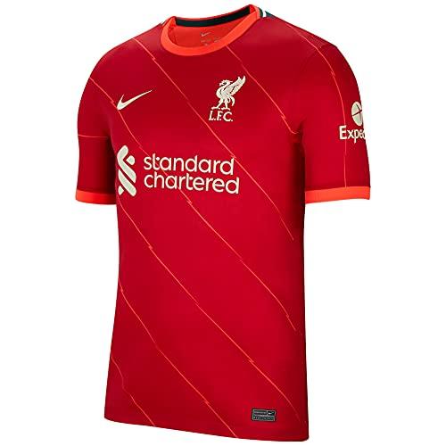 NIKE DB2560-688 Liverpool FC 2021/22 Stadium Home T-Shirt Mens Gym Red/Bright Crimson/Fossil M