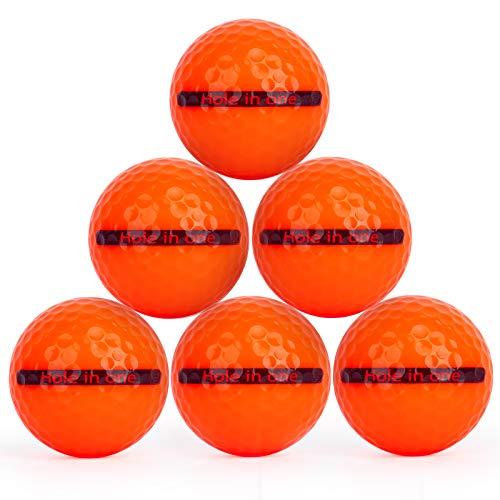 Golf übungsbälle, Bozily Distanz-Golfbälle Orange Training Golf Balls Unisex für Kurs Spiel Praxis Geschenke und mehr,6er-Pack