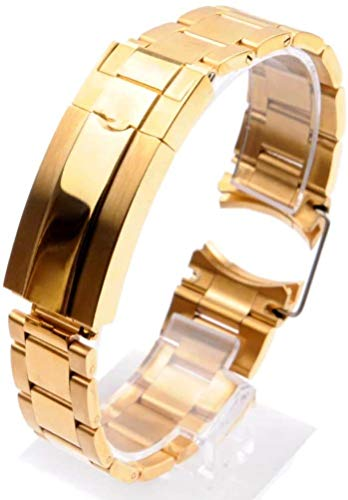 ROUHO Constant Motion 304L Strap Steel Band 20 21Mm Stahl-Armband Für Rolex Submariner Deepsea-Gold 20mm