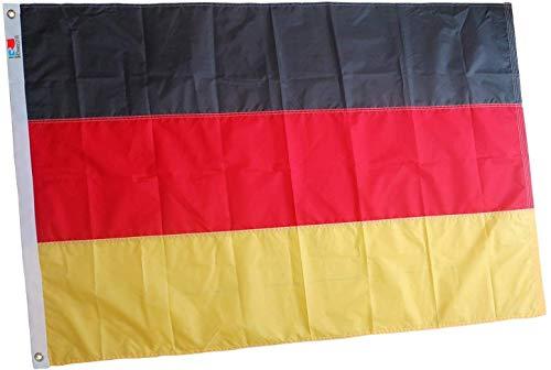 rhungift Flagge/DEUTSCHE Fahne Europe Heavy Duty 90x150Cm, Premium langlebigste Oxford Nylon deutsche Fahne, die Beste Deutschland Flagge| Vierfach genähte Fliegenenden