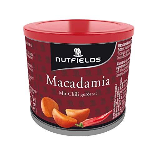 Nutfields Macadamianüsse | Chili geröstet | Gourmet-Snack | 135 g