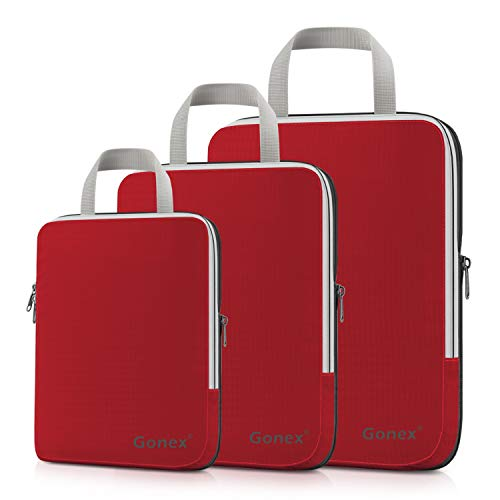 Gonex Compression Packing Cubes Extensible Organizer Bags for Travel Suitcase Organization