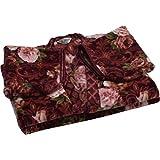 京都西川 着る毛布 エンジ フリーサイズ 140×200㎝ 日本製 洗える 夜着毛布 かいまき毛布 静電気抑制 2YGE1482