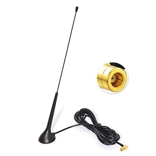 Eightwood DAB DAB+ Antenne Autoradio SMB Antenne (KFZ Magnetfußantenne) mit Antenne Extension Kabel RG174 300cm für Digitalradio Empfang Blaupunkt Beat TechniSat Pioneer Sony Kenwood Alpine MEHRWEG