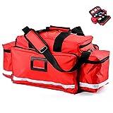 Rziioo Botiquín de Primeros Auxilios - Completa de Respuesta a Emergencias de Trauma Bolsa - Primer respondedor médico EMT el ccsme Bolsa Disponible En Trauma Kit/Rojo