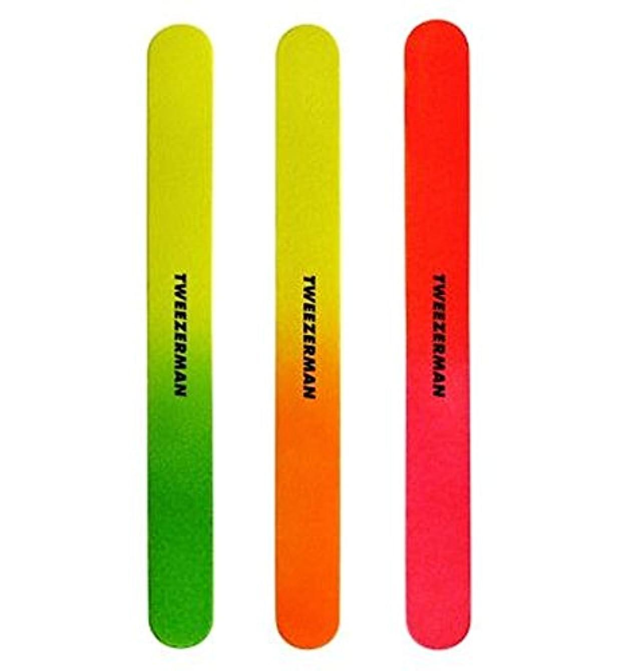 仮定する近似ラッドヤードキップリングTweezerman Neon Files pack of 3 - 3のツィーザーマンネオンファイルパック (Tweezerman) [並行輸入品]