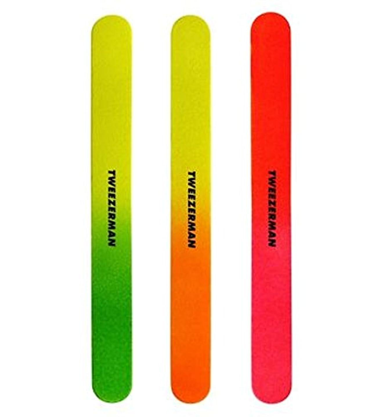 遺伝的アパート暴力Tweezerman Neon Files pack of 3 - 3のツィーザーマンネオンファイルパック (Tweezerman) [並行輸入品]