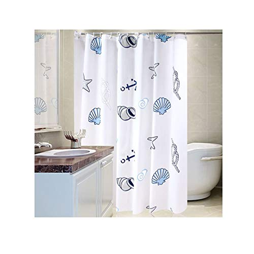 Daesar Badvorhang Anti-Schimmel Muschel Badezimmer Duschvorhang aus Polyester-Stoff 300x200 cm