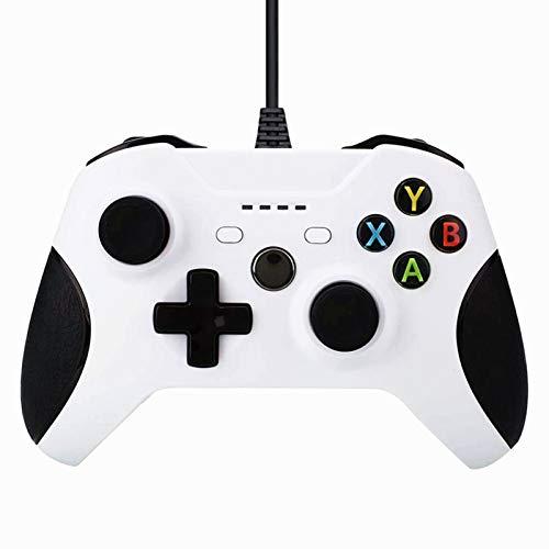 TIAS Controlador con Cable para Xbox One Doble Vibración USB Xbox One Controlador de Juegos con Cable para Xbox One Pc Windows