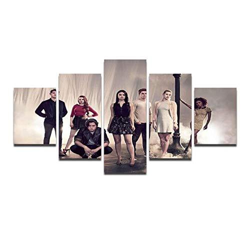 LJLSLH Dekoration 5 Stücke Riverdale Landschaft Tv Spielen Wandkunst Bild Wohnzimmer Poster Kunstwerk Leinwanddrucke Kein Rahmen Größe A