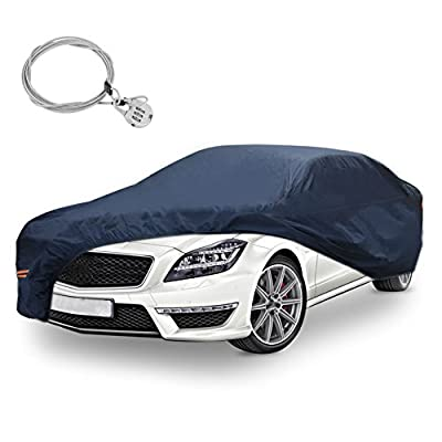 Full Car Cover 100/% Waterproof Breathable Outdoor 2 Layer Snow Resistant Medium