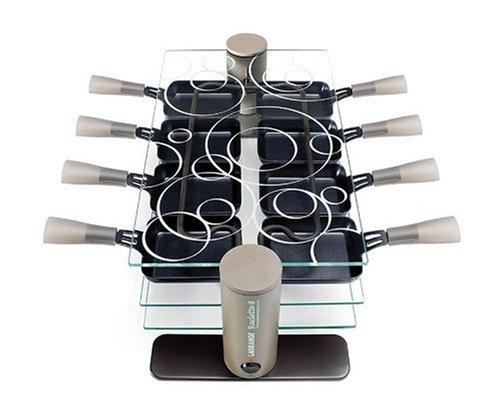 Maybaum R 8 Design- Raclette aus Kunsststoff und Glas,8 Pfännchen
